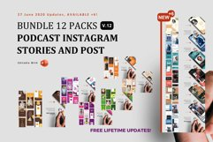 Updates! Bundle 12 Packs Podcast ig Stories and Post Templat Product Image 1