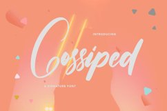 Gossiped - Signature Font Product Image 1