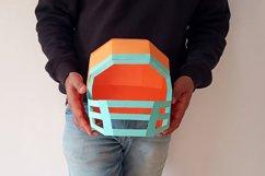 DIY Football Helmet - 3d papercraft Product Image 5
