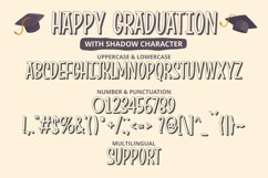 Happy Graduation - Funny Condensed Font with Shadow Product Image 3