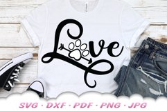 Love Paw Print SVG DXF Cut Files Product Image 4
