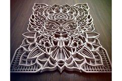 M43 - OWL Mandala DXF, Layered Owl Mandala for laser cut Product Image 6