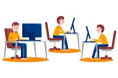 Work From Home Vector Graphic Set 05 Product Image 5