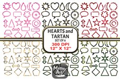 6 Sets x 22 Borders/Frames - Hearts and Tartans and a Floral Product Image 1