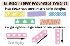 Washi Tapes Procreate Brushes / Craft and Scrapbook Brushes Product Image 2