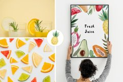 Watercolor Fruits. Patterns, Clipart Product Image 4
