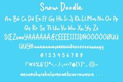Snow Doodle | Handwritten Monoline Web Font Product Image 6