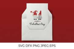 Happy Valentines Day SVG. Cute gnomes SVG. Funny Valentine Product Image 2