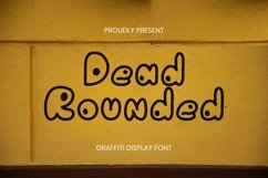 Web Font Dead Rounded Font Product Image 1