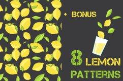 Lemon citrus pattern - set of 8 Product Image 1