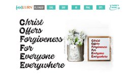 C.O.F.F.E.E. Christ Offers Forgiveness For Everyone SVG Product Image 1