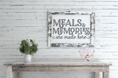 Meals and Memories are Made Here Wood Sign SVG Product Image 2