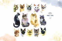 Watercolor cats clipart Product Image 2