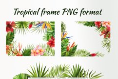 Watercolor tropical leaves and flowers Product Image 4