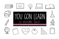 You Gon Learn - A Teaching/School Doodles Font Product Image 1