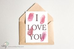 Sublimation heart watercolor elements. Product Image 2