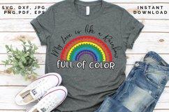 Love like a Rainbow SVG, Valentine's cut file, Love svg Product Image 1