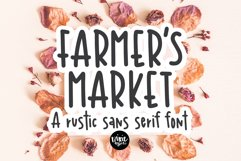 FARMER'S MARKET a Rustic Sans Serif Font Product Image 1