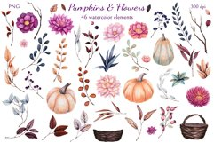 Pumpkins and Flowers Product Image 6