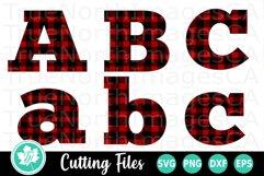Plaid Letters SVG | Plaid Alphabet SVG | Christmas SVG Product Image 1