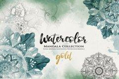 Watercolor & Gold Hand Drawn Mandala Product Image 1