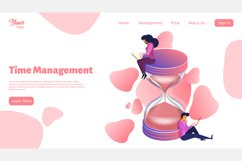 Time management. Landing page headers Product Image 7