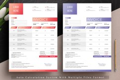 Modern Invoice Template Google Sheets Excel Numbers Format Product Image 2