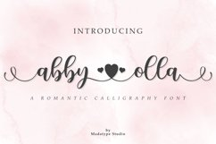 Abby Olla   A Romantic Calligraphy Font Product Image 1
