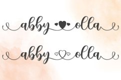 Abby Olla   A Romantic Calligraphy Font Product Image 5