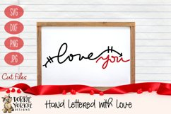 Hand lettered Love You - Valentine, Romance - SVG Cut File Product Image 1