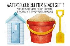 Watercolor Summer Beach Clip Art Set 1 Product Image 2