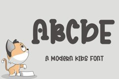 ABCDE - A Modern Kids Font Product Image 1