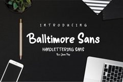 Balltimore Sans // Handlettering Sans Product Image 1