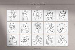 Women Portraits. Line Art Collection. Product Image 2