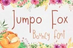 Jumpo Fox - thin bouncy font Product Image 1