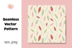 Pastel Leaves Digital Paper, Seamless Pattern Product Image 1