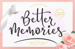 Better Memories Font Product Image 1