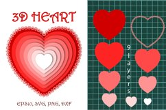3D heart. Product Image 1