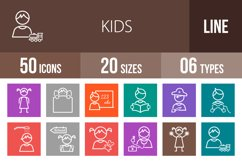 50 Kids Line Multicolor B/G Icons Product Image 1