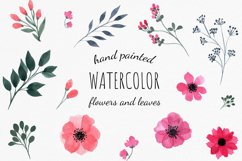 Set of watercolor wild summer flowers cliparts. Product Image 2