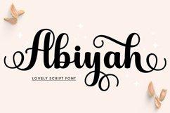 Abiyah Script Product Image 1