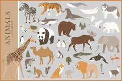 Abstract world animals clipart