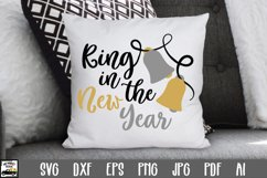 Ring in the New Year SVG Cut File - New Years SVG File Product Image 1
