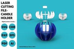Candle Holder- SVG - laser cutting file Product Image 1