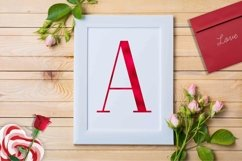 Alphabet Red, valentine, letters red, sublimation Product Image 3