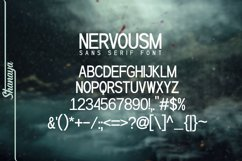 NERVOUSM Font UPDATE  Elegant San Serif Style Product Image 4