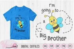 Big Brother svg, kids svg, Bee quote svg, word pun svg, Product Image 1