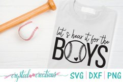 Let's Hear it for the Boys Baseball SVG, DXF, PNG Product Image 1