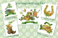 St. Patrick's Day,Gnomes watercolor clipart, digital paper. Product Image 4