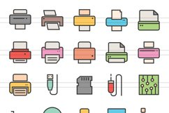 55 Computer & hardware Filled Line Icons Product Image 2